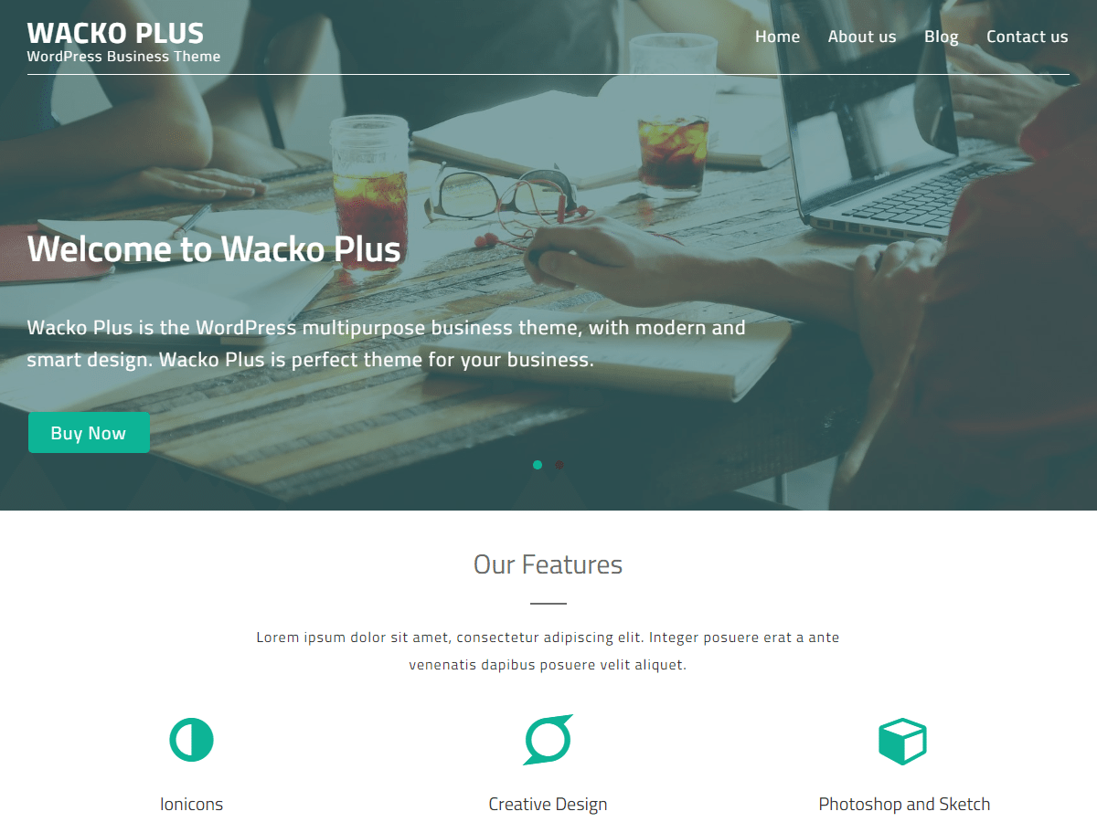Wacko Plus - Multipurpose WordPress Business Theme